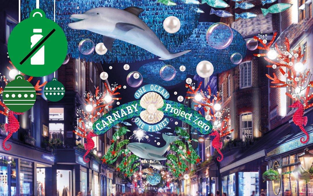 Curiosità dal mondo. Un Natale ZERO PLASTIC a Carnaby Street, London.